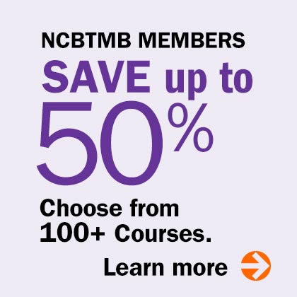 NCBTMB Members Save up to 50%